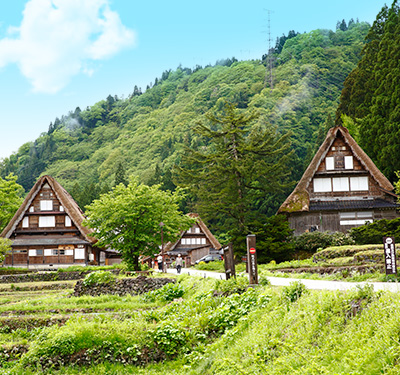 Gokayama Gassho-style Village and Japanese Snack Making Course