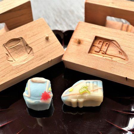 北陸新幹線W7系菓子木型で和菓子づくり