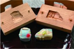 北陸新幹線W7系菓子木型で和菓子づくり体験